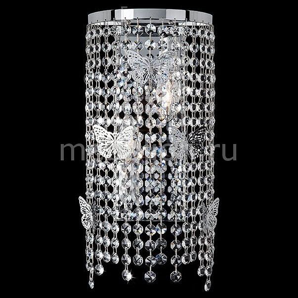 Накладной светильник Eurosvet 10015/2 хром/прозрачный хрусталь Strotskis