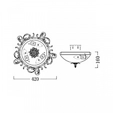 Накладной светильник Maytoni CL900-03-W Geometry 1