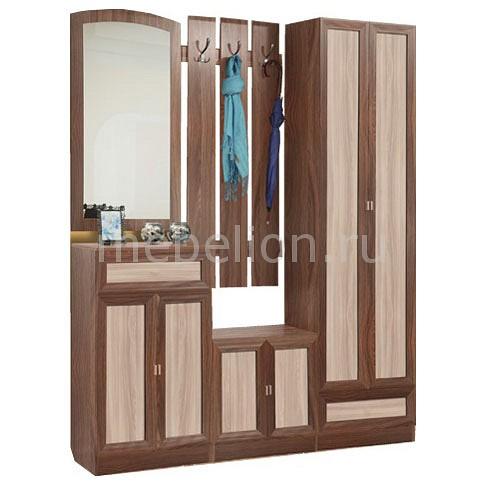 Стенка для прихожей Олимп-мебель Визит-М11 ясень шимо темный/ясень шимо светлый