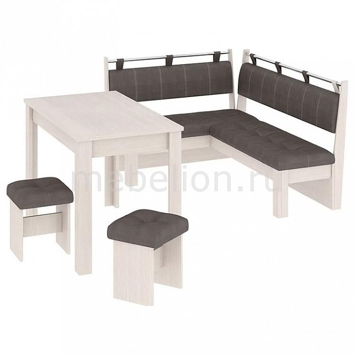 Набор кухонный Мебель Трия Уголок кухонный Омега дуб белфорт/лён коричневый стол кухонный альфа 1 ящик 600х600х850мм коричневый глянец