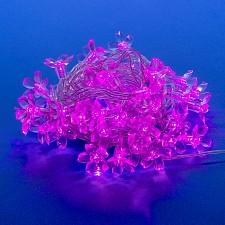 Гирлянда с насадками (7 м) Uniel Сакура розовая 07933