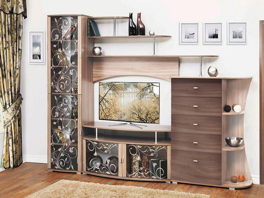 Стенка для гостиной Олимп-мебель Стенка-горка Олимп-М15 ясень шимо темный/ясень шимо светлый цены