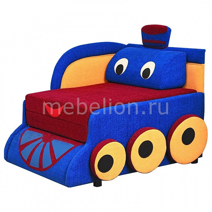 Диван-кровать Олимп-мебель Мася-7 Паровозик 8121127 синий/красный/желтый мебель page 7