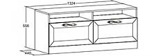 Тумба под ТВ Александрия 618.080 орех