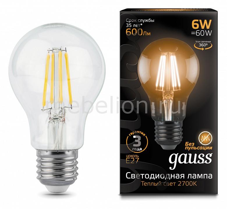 Лампа светодиодная Gauss 1028 E27 150-265В 6Вт 2700K 102802106