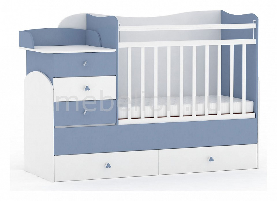 Кроватка-трансформер Фея 1400  икеа диван кровать двухместный