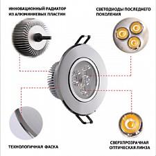 Встраиваемый светильник MW-Light 637012603 Круз