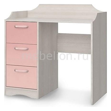 Стол письменный Флауэ СТЛ.093.21 сосна авола/шелк розовый