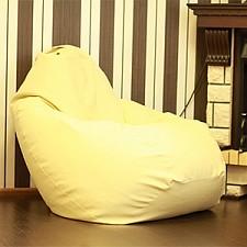 Кресло-мешок Кремовая кожа II