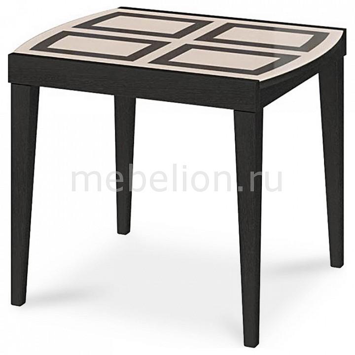 Мебель Трия Стол обеденный Танго Т1 С-361 венге/стекло с рисунком раздвижной большой стеклянный обеденный стол кубика нагано 2 стекло стекло темно коричневое венге