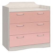 Комод Флауэ СТЛ.093.18 сосна авола/шелк розовый