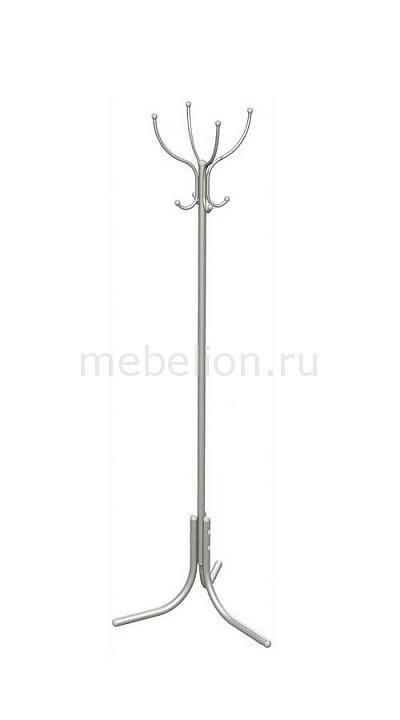 Вешалка напольная Мебелик Вешалка-стойка М-3 алюминий мебелик вешалка напольная м 5 мек цвет алюминий