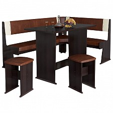 Набор кухонный Мебель Трия Уголок кухонный Амиго груша монтего/темно-коричневый/бежевый