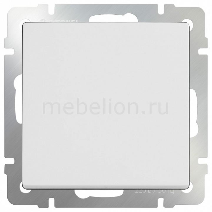 Выключатель проходной одноклавишный без рамки Werkel Белый WL01-SW-1G-2W бра colosseo susanna 80311 2w