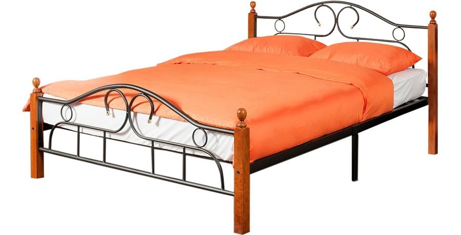 Кровать односпальная 808 красное дерево, черный mebelion.ru 4278.000