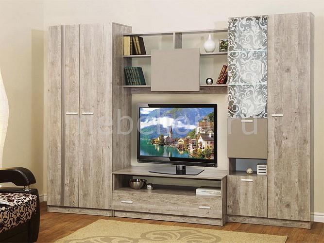 Стенка для гостиной Олимп-мебель Магна-1 боб пайн/мокко