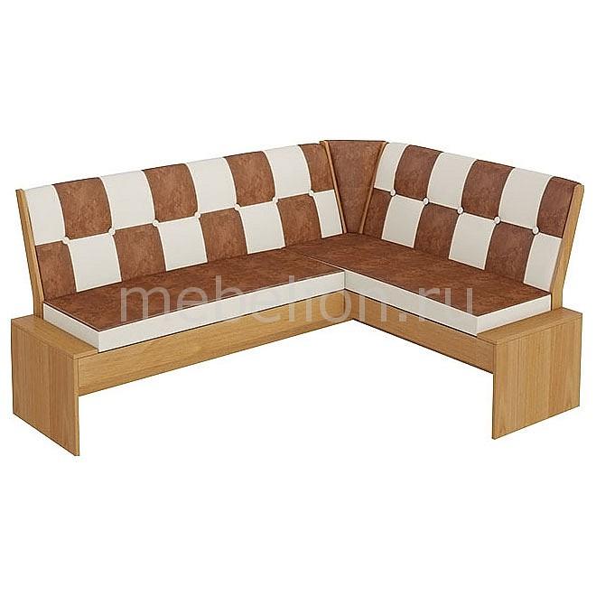 Уголок кухонный Мебель Трия Диван Кантри Т1 исп.3 ольха/коричневый мебель трия табурет кантри т1 венге темно коричневый