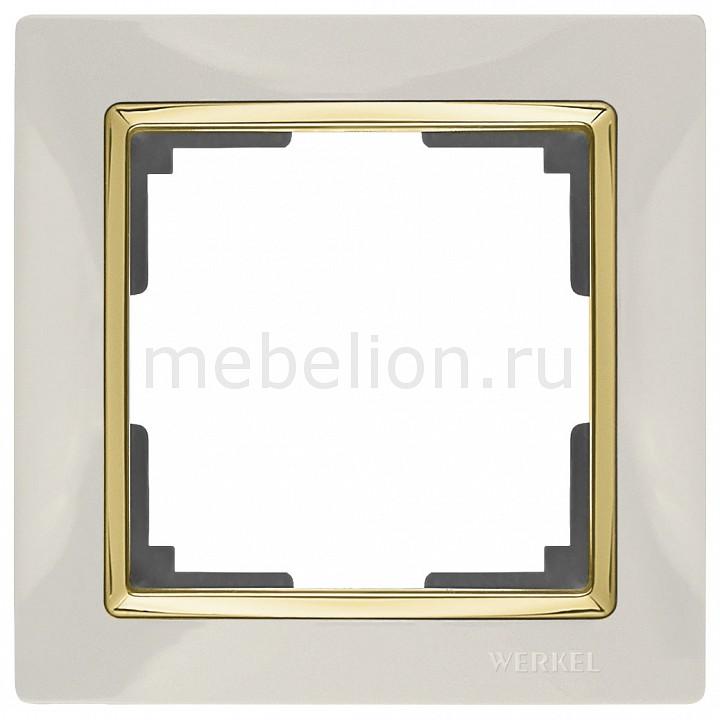 Рамка на 1 пост Werkel Snabb WL03-Frame-01-ivory-GD werkel рамка snabb на 1 пост слоновая кость золото werkel wl03 frame 01 ivory gd 4690389083860