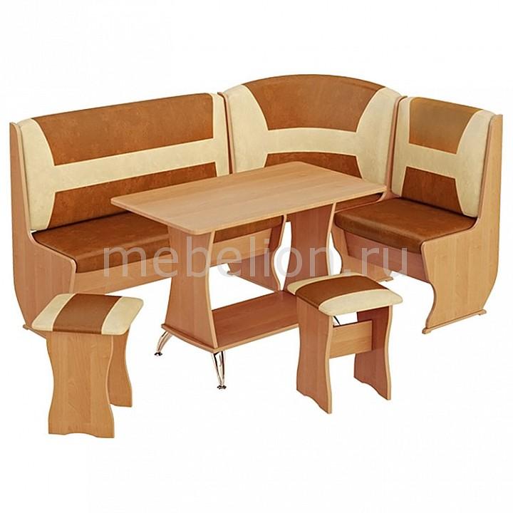 Набор кухонный Мебель Трия Уголок  Уют-3 Люкс ольха/бук/коричневый