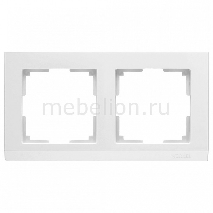 Рамка на 2 поста Werkel Stark WL04-Frame-02-white 72 recycled earth friendly patio counter table white with silver frame