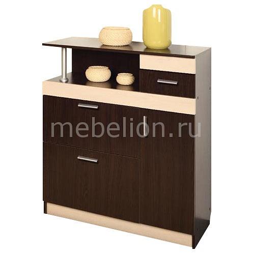Купить Тумба для обуви Фиеста-4 венге/дуб линдберг, Олимп-мебель, Россия