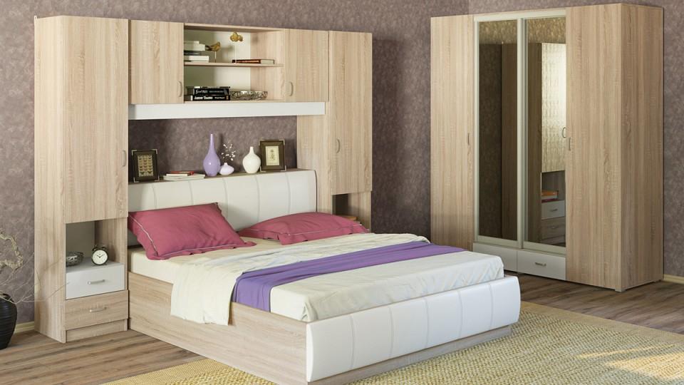 Гарнитур для спальни MOBI Линда 2 кровать mobi линда 303 90 кровать с пм дуб сонома белый