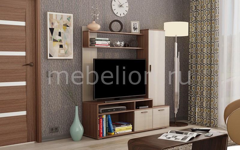 Стенка для гостиной Mebelson Стенка-горка Лаура canghpgin светлый серый цвет номер м