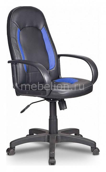 Кресло компьютерное Бюрократ Бюрократ CH-826/B+BL компьютерное кресло бюрократ ch 826 black white