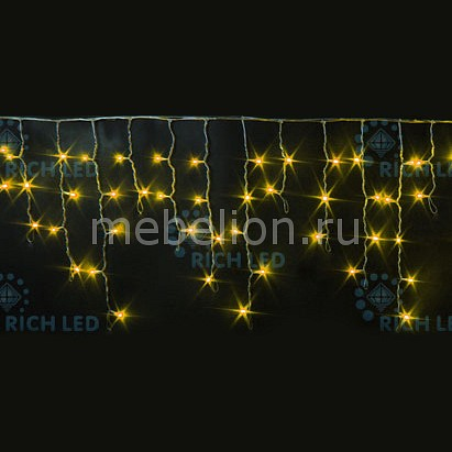 Бахрома световая (3х0.5 м) RichLED RL-i3*0.5F-RW/Y бахрома световая 3х0 5 м richled rl i3 0 5 rw ww