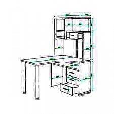 Стол компьютерный Домино СР-130