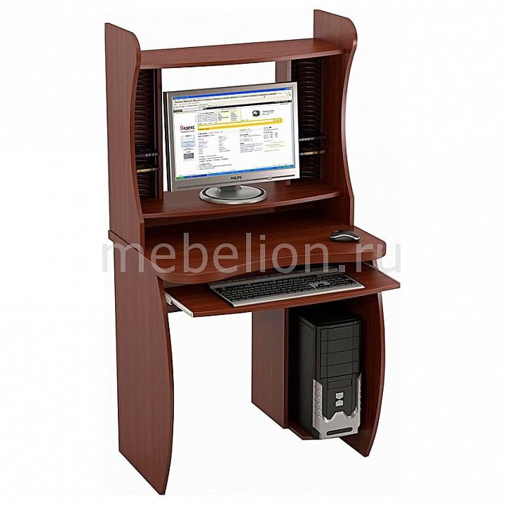 Стол компьютерный Бекас КС-6+КН-6 яблоня локарно mebelion.ru 4290.000