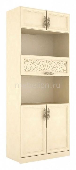 Шкаф комбинированный Александрия 618.030 Кожа Ленто/Рустика