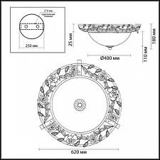 Накладной светильник Odeon Light 2585/3 Oxonia