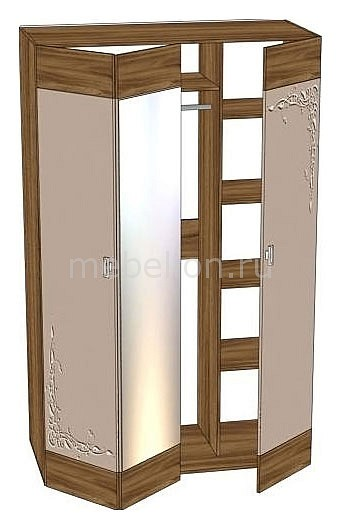 Шкаф платяной 121.140 Латте 14 гармошка имбирь F/ноче марино