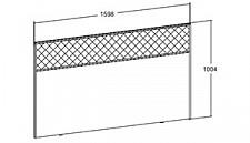 Спинка для кровати Бруна 631220.000