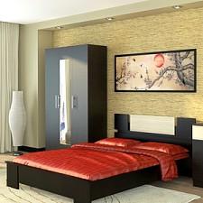 Кровать двуспальная Оливия СТЛ.109.01 дуб феррара/ясень глянец