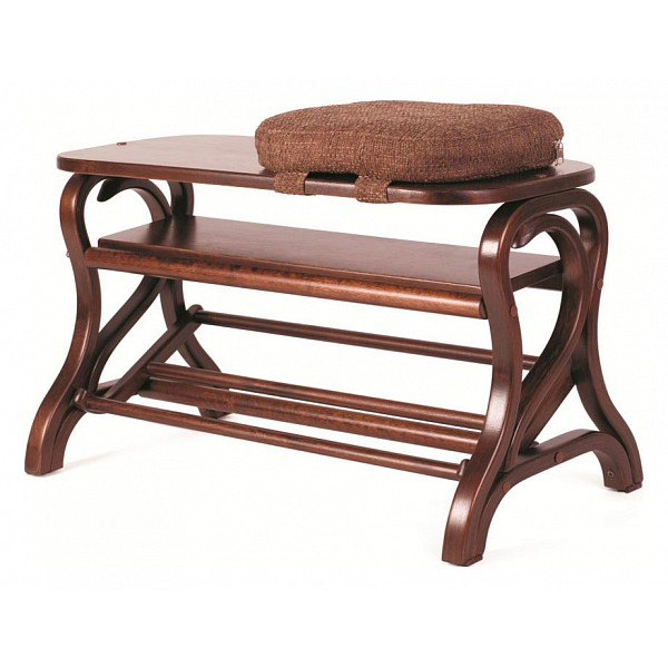 Банкетка-стеллаж для обуви Мебелик