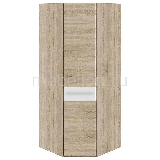 Шкаф платяной угловой Ларго СМ-181.07.006 дуб сонома/белый глянец