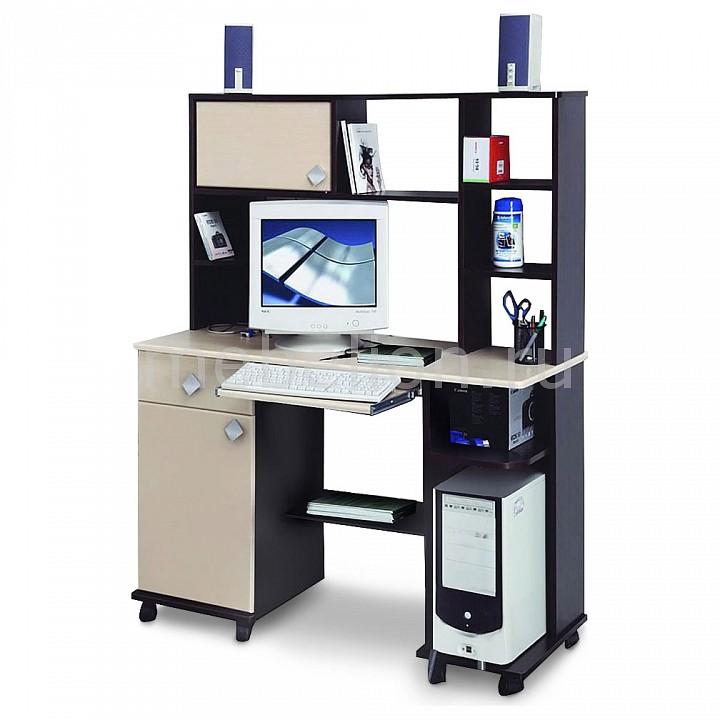 Олимп-мебель Стол компьютерный Костер-6 5210-06 венге/клен