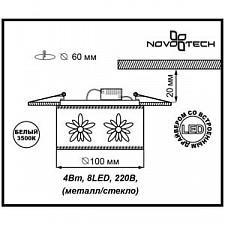 Встраиваемый светильник Novotech 357306 Pastel