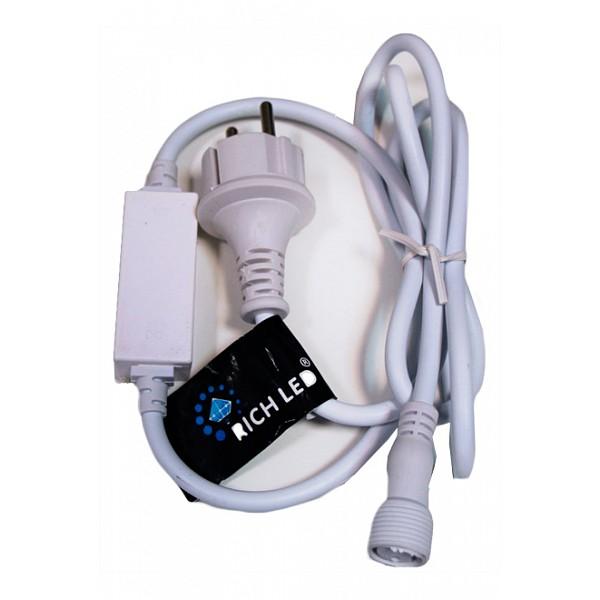 Провод электропитания RichLEDRL-220AC/DC-4A-WАртикул - RL_RL-220AC_DC-4A-W, Бренд - RichLED (Россия), Серия - RL-220AC_DC, Время изготовления, дней - 1, Лампы - , Класс электробезопасности - I, Напряжение питания, В - 220, Лампы в комплекте - светодиодные (LED), Дополнительные параметры - может совместно использоваться cо светодиодными занавесами:RL-C2_3-T_R, RL-C2_3-T_Y, RL-C2_3-T_B;RL-C2_3-T_M, RL-C2_3-T_G, RL-C2_3-T_W;RL-C2_3-T_WW, RL-C2_3-T_BW, RL-C2_6-B_R;RL-C2_6-B_Y, RL-C2_6-B_B, RL-C2_6-B_M; RL-C2_6-B_G, RL-C2_6-B_W, RL-C2_6-B_WW;RL-C2_6-T_R, RL-C2_6-T_Y, RL-C2_6-T_B;RL-C2_6-T_M, RL-C2_6-T_W, RL-C2_6-T_WW;RL-C2_9-B_R, RL-C2_9-B_Y, RL-C2_9-B_B;RL-C2_9-B_M, RL-C2_9-B_G, RL-C2_9-B_W;RL-C2_9-B_WW, RL-C2_9-T_Y, RL-C2_9-T_B;RL-C2_9-T_M, RL-C2_9-T_W, RL-C2_9-T_WW<br><br>Артикул: RL_RL-220AC_DC-4A-W<br>Бренд: RichLED (Россия)<br>Серия: RL-220AC_DC<br>Время изготовления, дней: 1<br>Лампы: ,,<br>Класс электробезопасности: I<br>Напряжение питания, В: 220<br>Лампы в комплекте: светодиодные (LED)<br>Дополнительные параметры: может совместно использоваться cо светодиодными занавесами:&lt;li&gt;RL-C2_3-T_R, RL-C2_3-T_Y, RL-C2_3-T_B;&lt;li&gt;RL-C2_3-T_M, RL-C2_3-T_G, RL-C2_3-T_W;&lt;li&gt;RL-C2_3-T_WW, RL-C2_3-T_BW, RL-C2_6-B_R;&lt;li&gt;RL-C2_6-B_Y, RL-C2_6-B_B, RL-C2_6-B_M;&lt;li&gt; RL-C2_6-B_G, RL-C2_6-B_W, RL-C2_6-B_WW;&lt;li&gt;RL-C2_6-T_R, RL-C2_6-T_Y, RL-C2_6-T_B;&lt;li&gt;RL-C2_6-T_M, RL-C2_6-T_W, RL-C2_6-T_WW;&lt;li&gt;RL-C2_9-B_R, RL-C2_9-B_Y, RL-C2_9-B_B;&lt;li&gt;RL-C2_9-B_M, RL-C2_9-B_G, RL-C2_9-B_W;&lt;li&gt;RL-C2_9-B_WW, RL-C2_9-T_Y, RL-C2_9-T_B;&lt;li&gt;RL-C2_9-T_M, RL-C2_9-T_W, RL-C2_9-T_WW&lt;/li&gt;