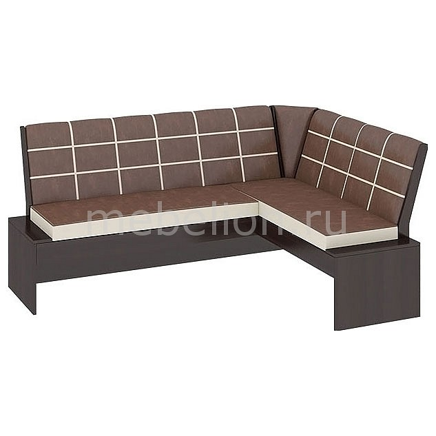 Уголок кухонный Мебель Трия Диван Кантри Т1 исп.2 венге/темно-коричневый мебель трия табурет кантри т1 венге темно коричневый