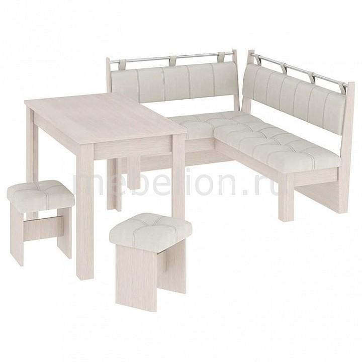 Набор кухонный Мебель Трия Уголок кухонный Омега дуб белфорт/лён бежевый кухонный уголок трия остин