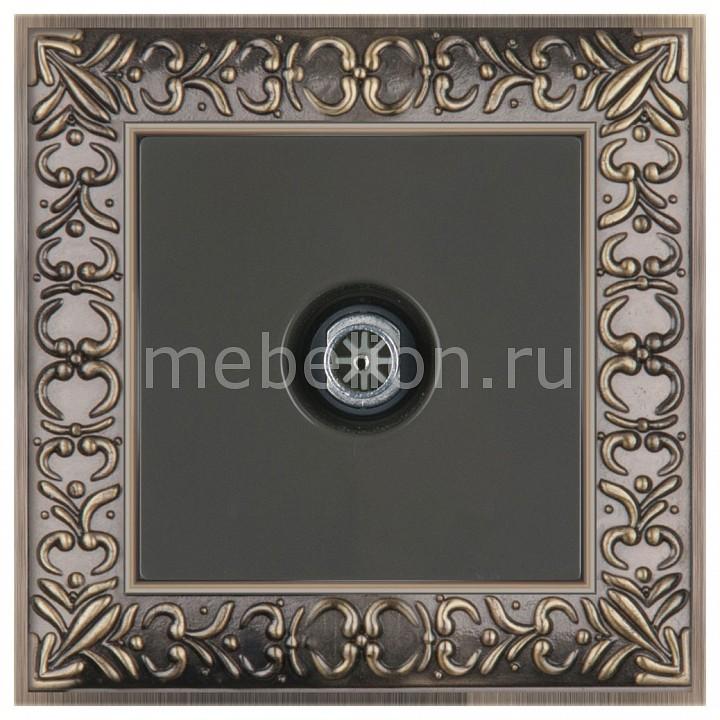 ТВ-розетки оконечные Werkel Antik (Серо-коричневый) WL07-TV-2W+WL07-TV цена