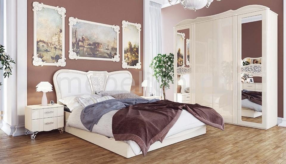 Гарнитур для спальни София крем глянец mebelion.ru 62030.000