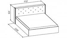 Кровать двуспальная Керри 620140.000