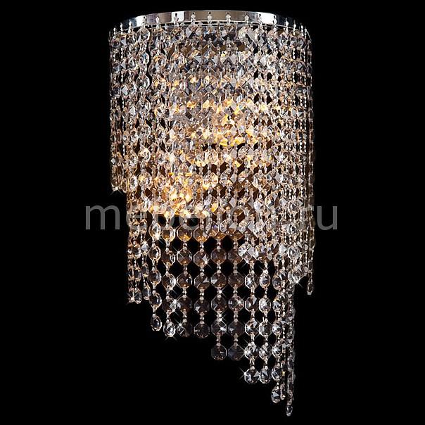 Накладной светильник Eurosvet 3102/2 хром/прозрачный хрусталь Strotskis