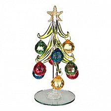 Ель новогодняя с елочными игрушками АРТИ-М (15 см) ART 594-103