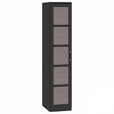 Шкаф для белья Токио СМ-131.10.001 венге цаво/венге цаво/каналы дуба