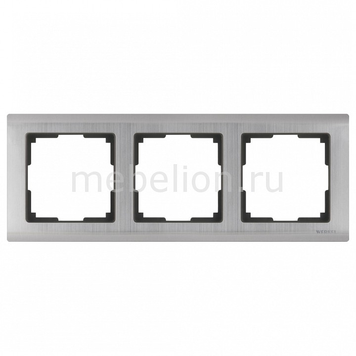 Рамка на 3 пост Metallic WL02-Frame-03 от Mebelion.ru